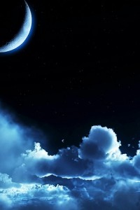 mond and clouds