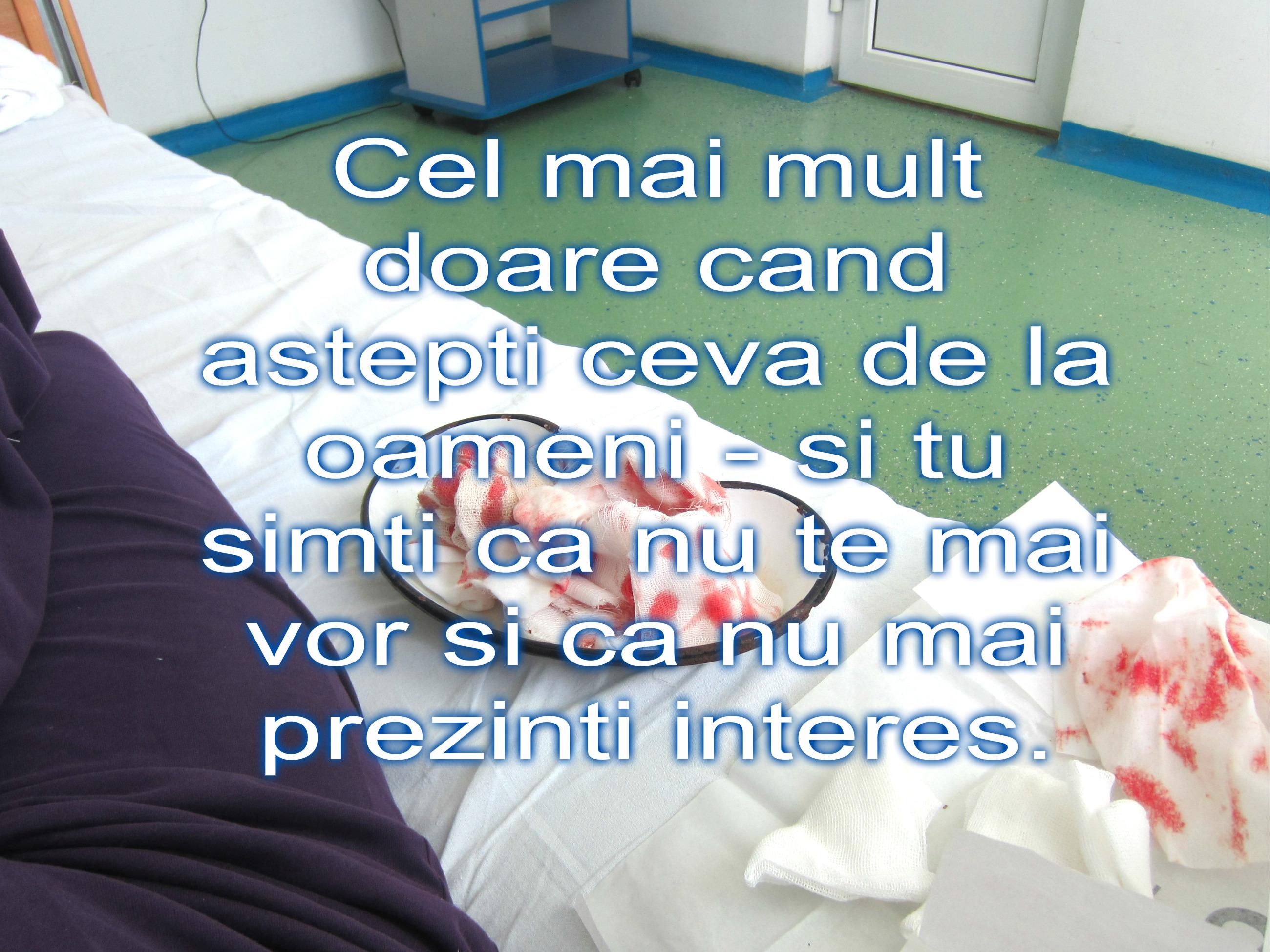 Sunt medic ATI, eu îi adormeam în sală. Acum, stateam acolo cu cancer la sân si parcă-n jur era o sceneta